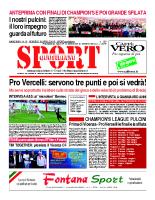 N.15 – Prima Pagina SportQuotidiano del 19 Aprile 2013
