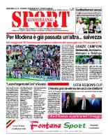 N.18 – prima Pagina SportQuotidiano del 10 Maggio 2013