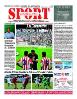 N.32 – Prima Pagina SportQuotidiano del 13 settembre 2013