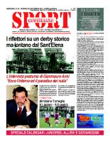 N.33 – Prima Pagina SportQuotidiano del 20 settembre 2013