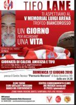 Domenica 12 giugno il V Memorial Luigi Arena