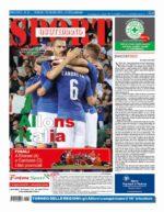 La prima pagina di SPORT in edicola venerdì 10 giugno