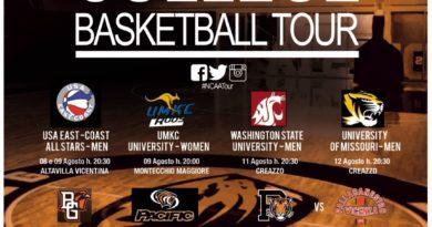 College Basketball Tour 2016, il 28 agosto a Vicenza Università di Princeton contro Pallacanestro Vicenza 2012