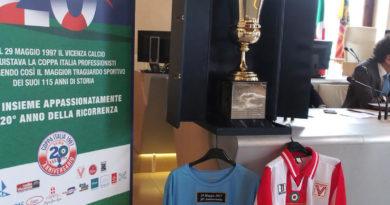 Coppa Italia esposta a Palazzo Trissino. il 29 maggio partita rievocativa al Menti