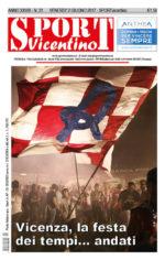 La prima pagina di SPORTvicentino in edicola venerdì 2 giugno