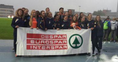 Atletica, AV Despar U20 sesta d'europa. Arancioni trascinate da Zuecco e Fontana