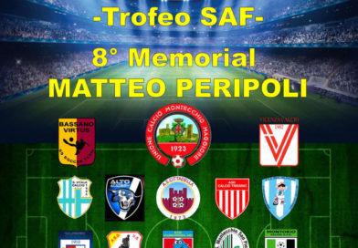 Dal 25 al 30 settembre a Montecchio il 21° Torneo Aleardi e 8° Memorial Peripoli