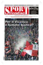 La prima pagina di SPORTvicentino in edicola venerdì 10 novembre