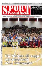 La prima pagina di SPORTvicentino in edicola venerdì 22 dicembre