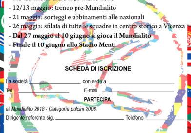 Aperte le iscrizioni al Mundialito e Città di Vicenza