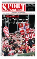 La prima pagina di SPORTvicentino in edicola venerdì 2 marzo