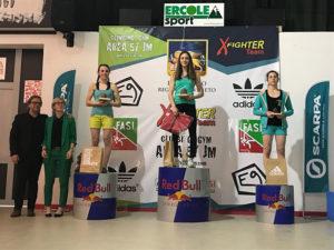 Coppa Italia Boulder il podio femminile della tappa di Thiene