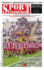 La prima pagina di SPORTvicentino in edicola venerdì 4 maggio
