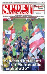 La prima pagina di SPORTvicentino in edicola venerdì 15 giugno