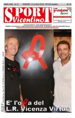 La prima pagina di SPORTvicentino in edicola venerdì 13 luglio
