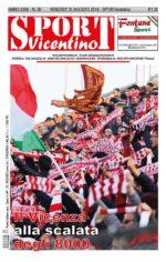 La prima pagina di SPORT in edicola venerdì 31 agosto