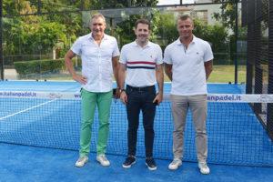 L'assessore Matteo Celebron con Enrico Zen e Gianni Milan