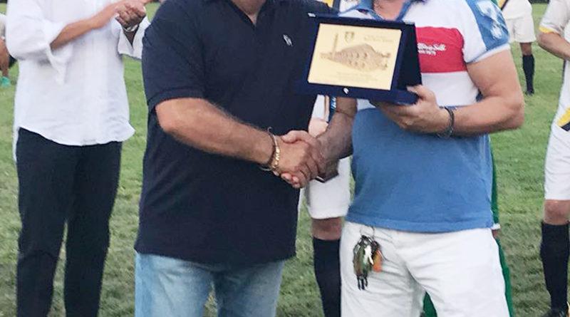 Barban ringrazia il presidente del Maddalene Roberto Ometto