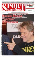 La prima pagina di SPORT in edicola venerdì 21 dicembre