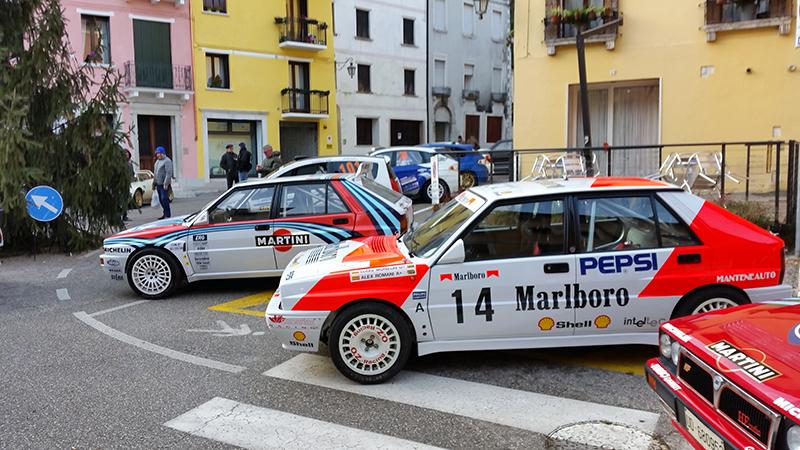 Alcune delle auto esposte a Valstagna