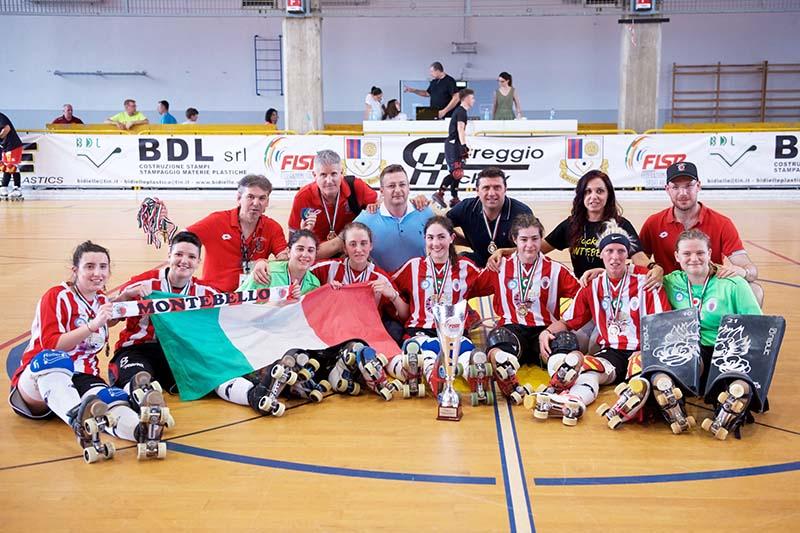 Nella foto di Marzia Cattini, le nuove campionesse d'italia 2019 di hockey pistaNella foto di Marzia Cattini, le nuove campionesse d'italia 2019 di hockey pista