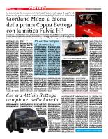 Giordano Mozzi a caccia della prima Coppa Bettega con la mitica Fulvia HF (13 febbraio 2015)