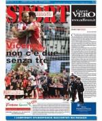La prima pagina di SPORT in edicola venerdì 8 aprile