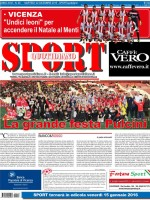 La prima pagina di SPORT in edicola martedì 22 dicembre