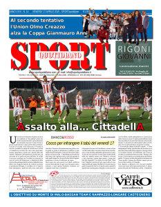 La prima pagina di Sport Quotidiano del 17 aprile 2015