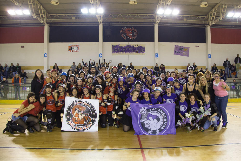 (ph. facebook The Anguanas - Vicenza Roller Derby)