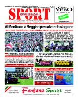 N.19 – prima Pagina SportQuotidiano del 17 Maggio 2013