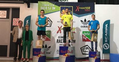 Coppa Italia Boulder il podio maschile della tappa di Thiene