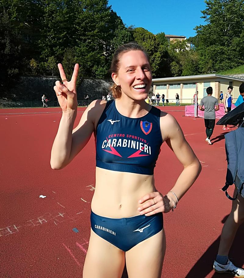 Elena Vallortigara, salto in alto 1,94 Siena