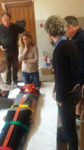 Corso per l'uso del defibrillatore