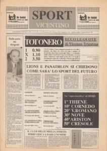 La prima pagina in edicola il 4 febbraio 1989