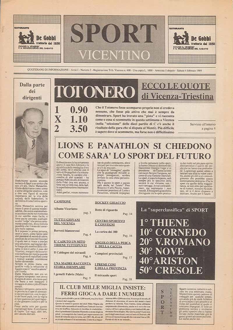 N° 2 - 4 febbraio 1989