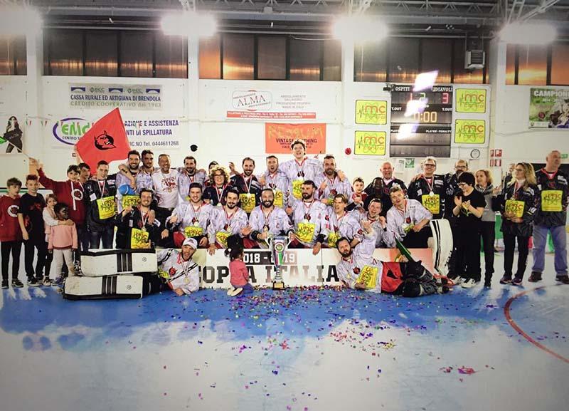 Diavoli Vicenza si aggiudica la Coppa Italia nella finalissima contro i campioni del Milano