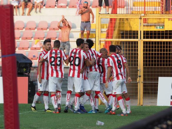 L'esultanza dopo il terzo gol