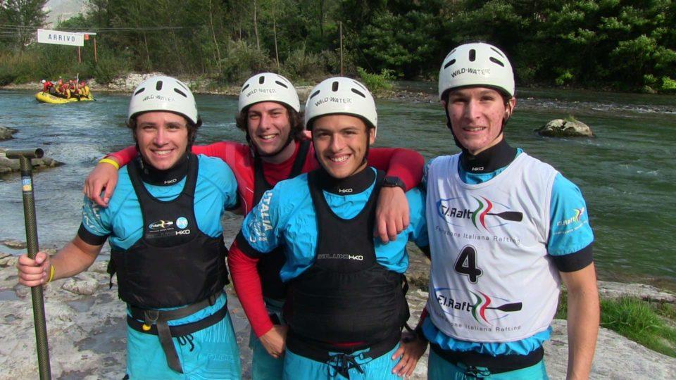 lI frateli Zeo e Fabio Martini con Pietro Fratton e Lorenzo Mastella, tutti e quattro azzurri U19