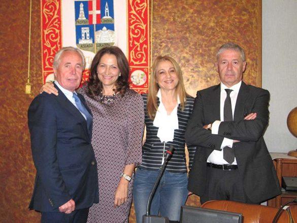 Da sinistra Gasparini, Martini, Franco e Marangon