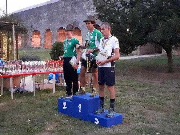 Il podio tricolore assoluto con Sesso, Pillan e Favaro