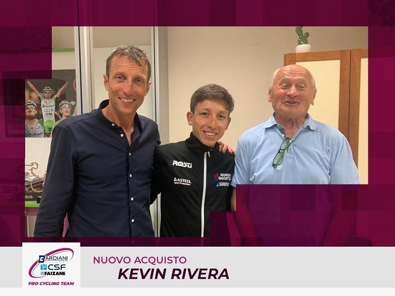 Kevin Rivera, scalatore ventiduenne vestirà i colori della Bardiani CSF Faizanè nelle stagioni 2021 e 2022.