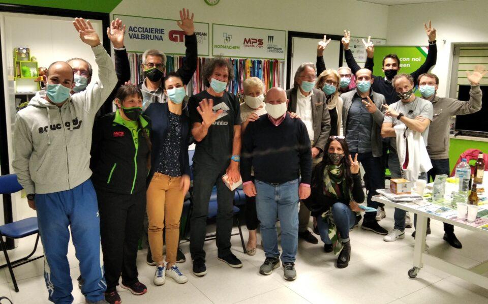 """I partecipanti alla spedizione """"Con i Green alla Resia-Rosolina-Relay"""""""