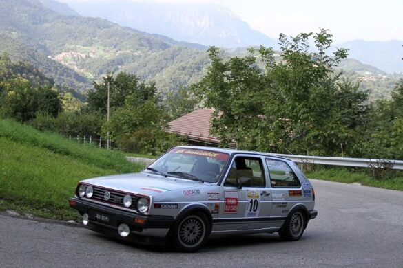 Scapin e Morandi su Volkswagen Golf GTI