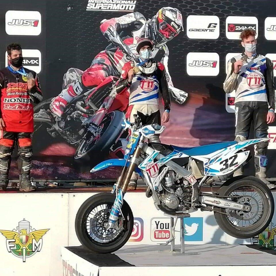 2020 Alex Pellattiero di Caldogno sul podio a Pomposa