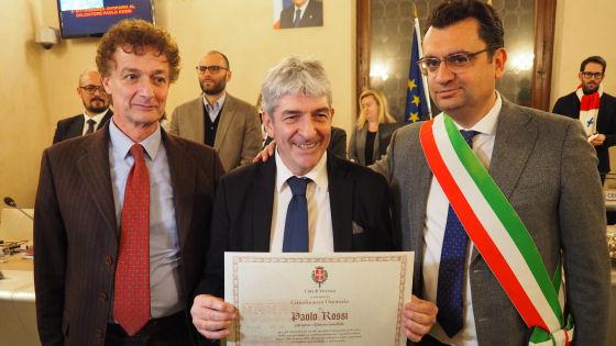 Paolo Rossi con Valerio Sorrentino e Francesco Rucco