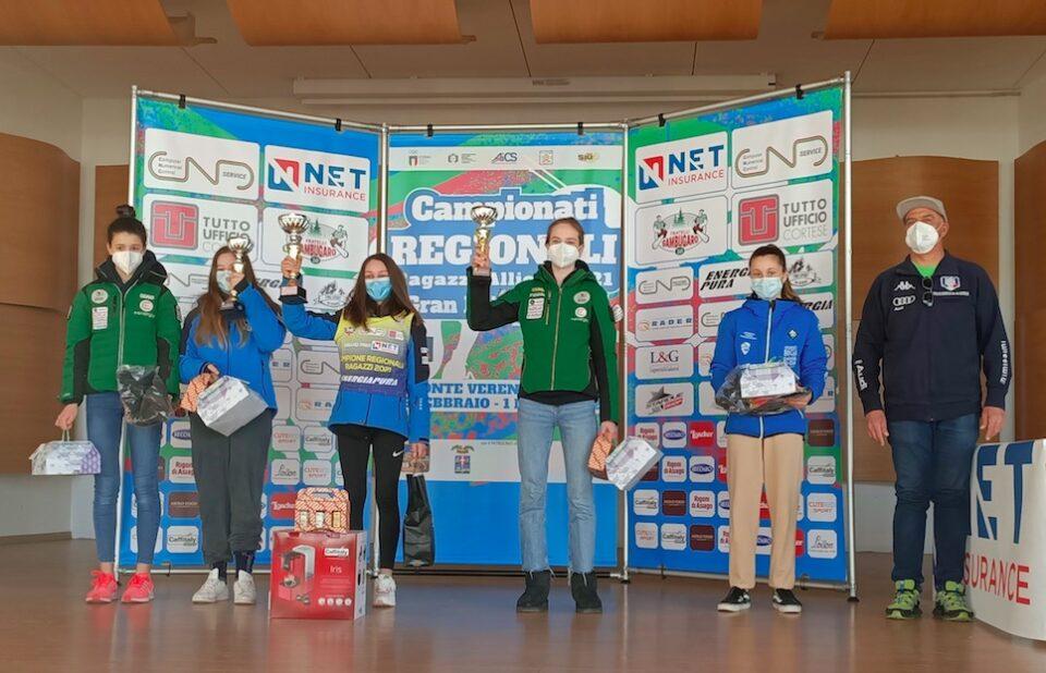 finali regionali net insurance - podio SL RAGAZZE febbraio 2021