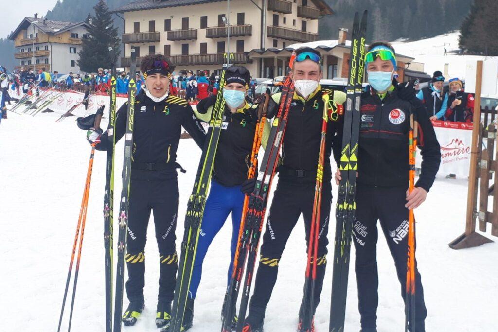 oro staffetta sci fondo giovani squadra veneto 2021