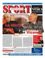 La prima pagina di SPORT in edicola venerdì 29 gennaio