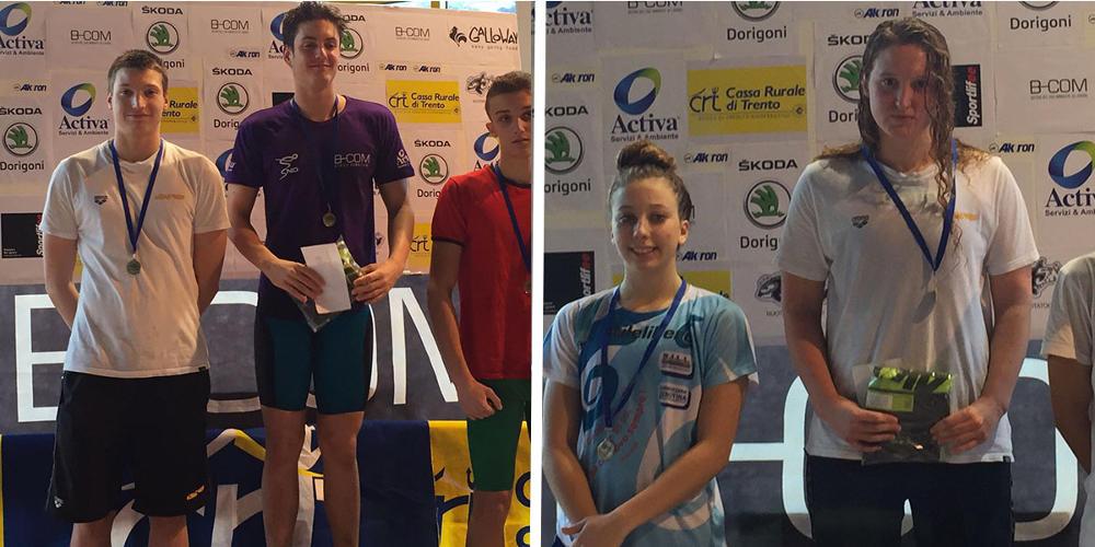 Schio Nuoto, tre vittorie al Trofeo Tridentum di Trento